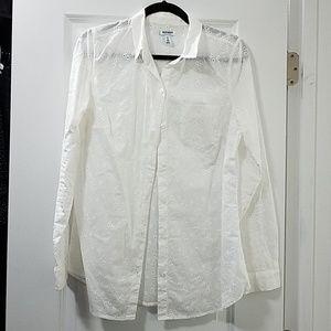 Old Navy Eyelet Dress Shirt
